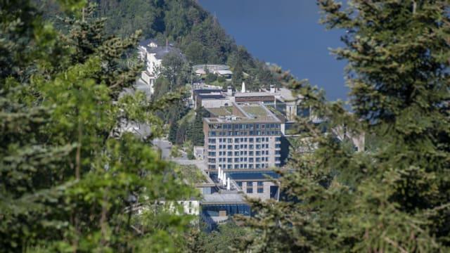 Tagen hier bald die Mächtigen der Welt am WEF? Blick auf die Hotelanlage auf dem Bürgenstock.