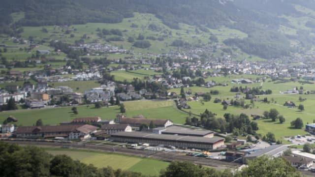 Das Areal des ehemaligen Zeughauses in Seewen.