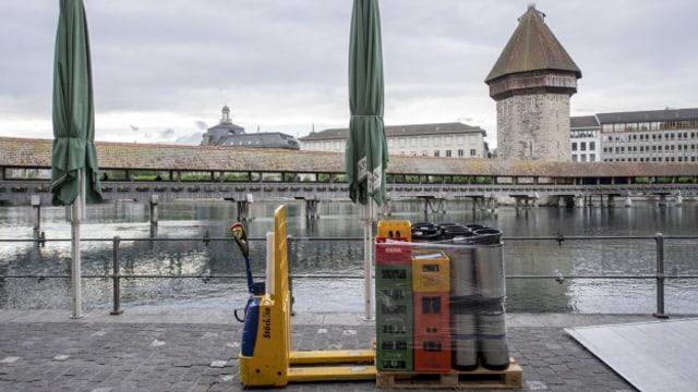 Restaurants in Luzern spüren die Corona-Krise.