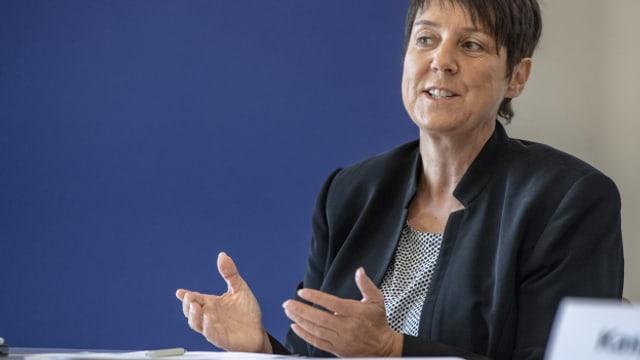 Die zuständige Regierungsrätin Petra Steimen sieht keinen Handlungsbedarf in Sachen Corona-Massnahmen.