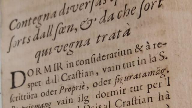 Il reverenda Conradin Riola ha er analisà las diversas spezias e tip da la sin umana.