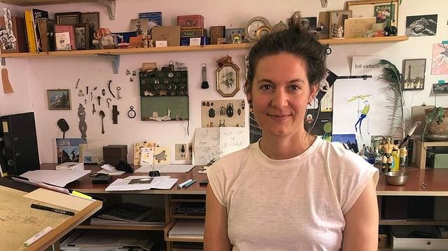 Pia Valär en ses atelier a Turitg