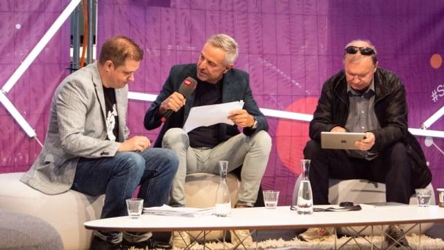 Dani Fohrler im Interview mit SRF-Inlandredaktor Tobias Gasser und Politologe Claude Longchamp.