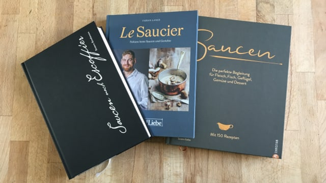 So geht Sauce! - Drei Saucen-Kochbücher im Vergleich.