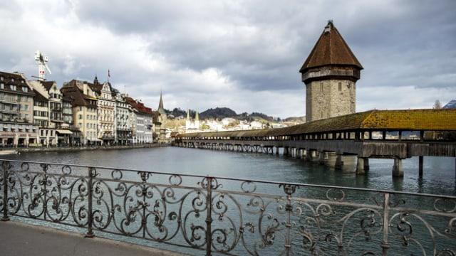 Keine asiatischen Touristen in der Stadt Luzern.