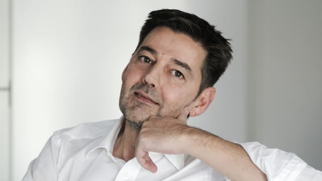 Der Schweizer Schriftsteller Andreas Neeser