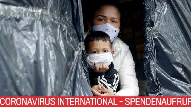 Die Glückskette sammelt für international vom Coronavirus Betroffene.