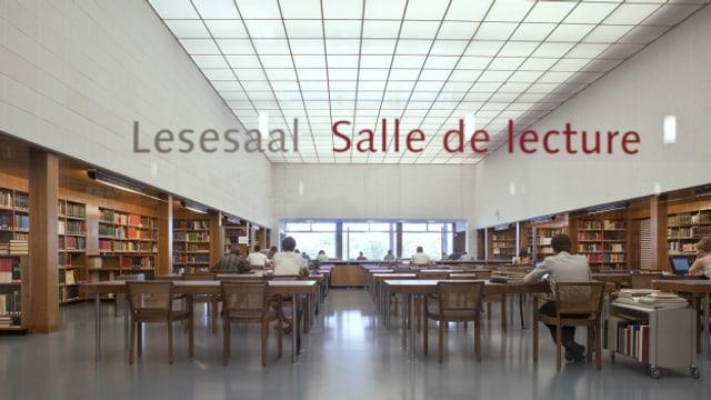 Ein Lesesaal der Schweizerischen Nationalbibliothek Bern.