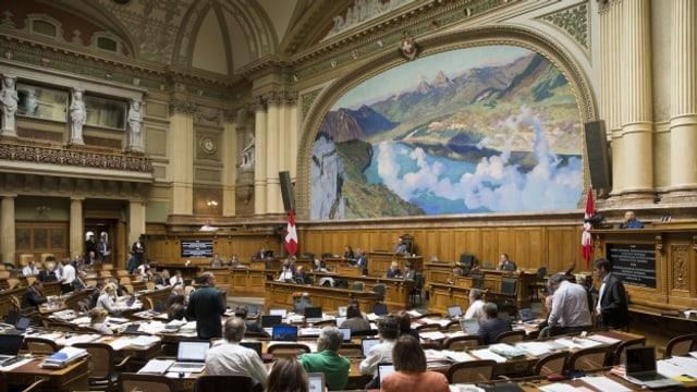 Der Nationalratssaal alsc Schauplatz eines Flashmobs.