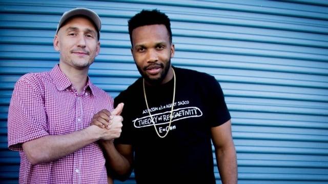 Agent Sasco (rechts) mit Lukie Wyniger in Jamaika