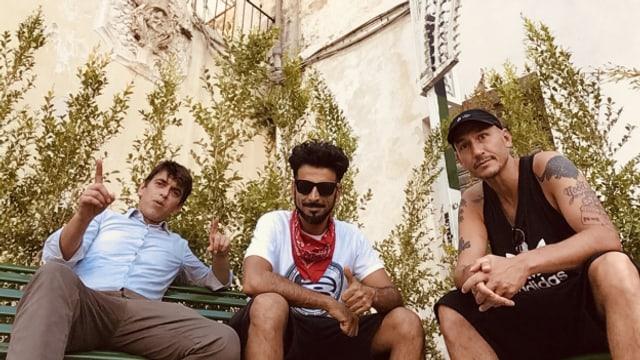 von links nach rechts: Rankin Lele, Papa Leu, Reggae Special-Macher Lukie Wyniger