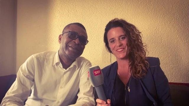 World Music Special Redaktorin Rahel Giger traf Youssou N'Dour zu seinem 60. Geburtstag in Zürich zum Interview.