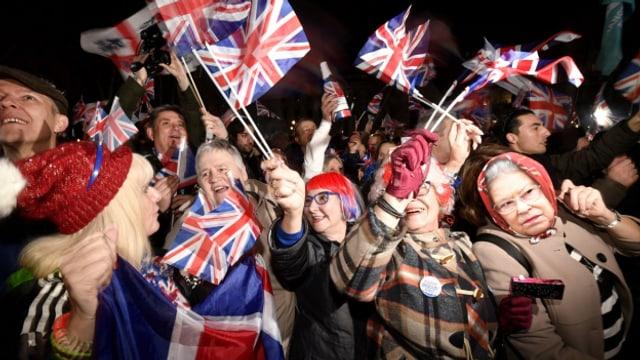 Die Britinnen und Briten zwischen Feierlaune und Frust