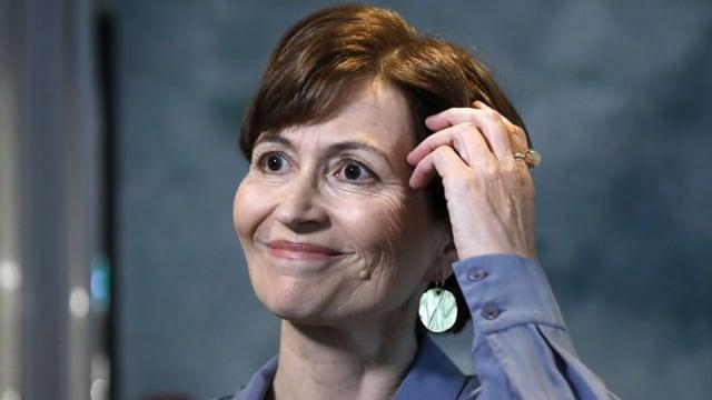 Regula Rytz gibt ihre Kandidatur als Bundesrätin bekannt.
