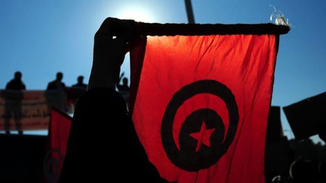 Die Fahne von Tunesien.