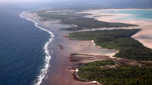Der Inselstaat Kiribati könnte das erste Opfer des Klimawandels sein.