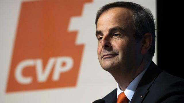 Gerhard Pfister, Parteipräsident und Nationalrat (Zug), aufgenommen an der Delegiertenversammlung der CVP Schweiz, am Samstag, 15. Februar 2020, in Frauenfeld.