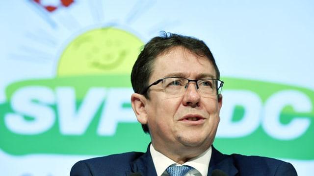 SVP-Parteipräsident Albert Rösti an der Delegiertenversammlung der SVP-Schweiz in Glattbrugg am 2. November 2019.