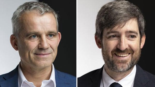Die Nationalräte Beat Jans (links) und Philipp Kuster.