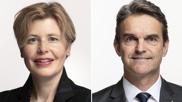 Esther Friedli, Nationalrätin SVP-SG und Beat Walti, Nationalrat FDP-ZH.