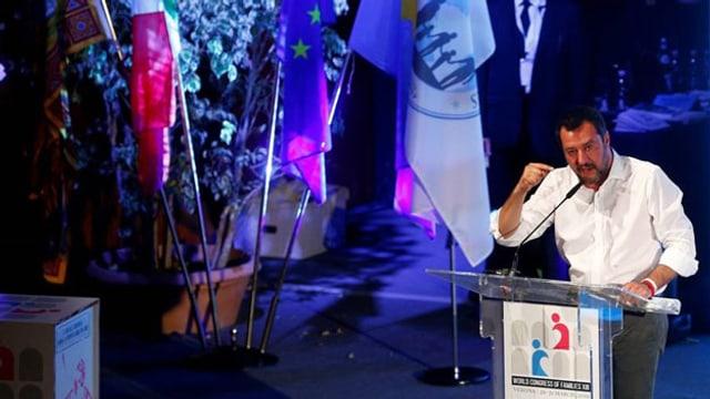 Matteo Salvini spricht am «Weltkongress der Familien» in Verona (März, 2019).