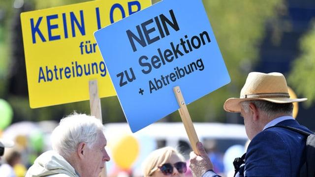 Kundgebung der Abtreibungsgegner am «Marsch fürs Läbä» in Zürich am 14. September 2019.