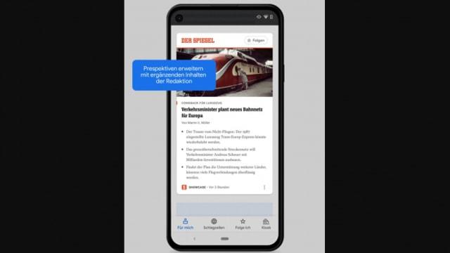 """So stellt sich Google den Service """"Showcase"""" vor."""