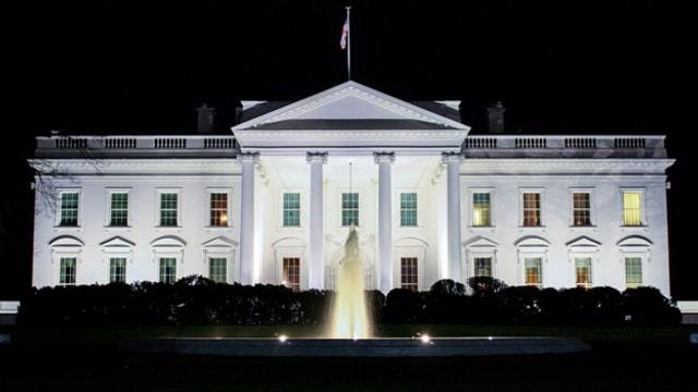 Sicht auf das Weisse Haus in Washington.