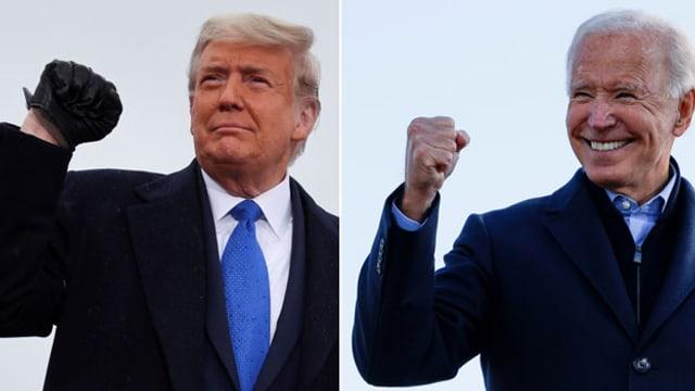 US-Präsident Donald Trump (links) und Amtsanwärter Joe Biden.