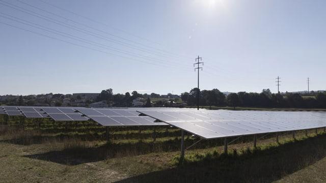Symbolbild. Der Solarpark la Boverie in Payerne.