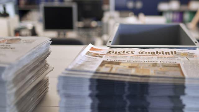 Blick in die Redaktion des Bieler Tagblatts in Biel/Bienne (Archivaufnahme).