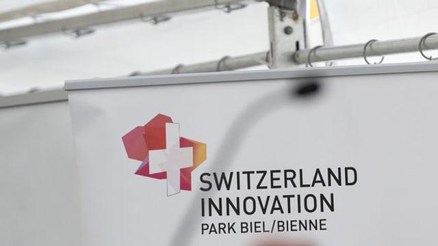 Logo des Swiss Innovation Park in Biel.