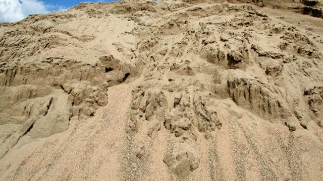 Symbolbild einer Sandhalde.