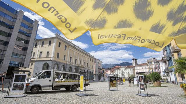 Filmfestival ohne Filmleinwand. Die Piazza Grande in Locarno bliebt in diesem Jahr leer.