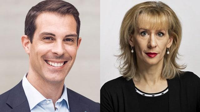Priska Seiler-Graf und Thierry Burkhart.