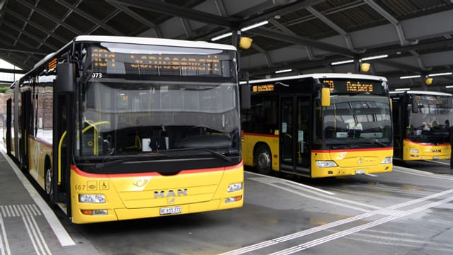 Postautobahnhof in Bern.