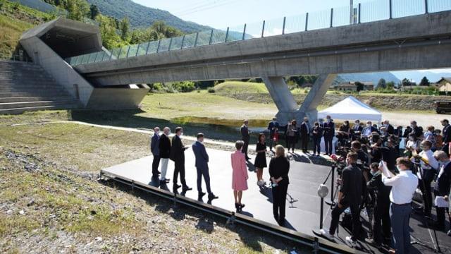 Heute wird der Ceneri-Basistunnel eröffnet.