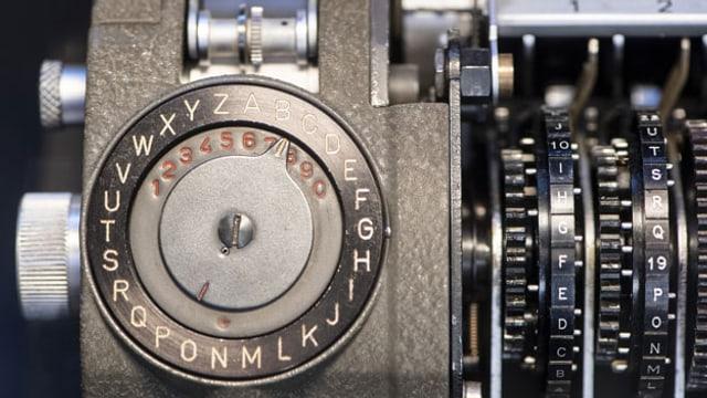 Eine Chiffriermaschine der Zuger Firma Crypto.