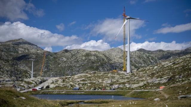 Auf dem Gotthardpass ist der erste Windpark des Tessins eröffnet worden