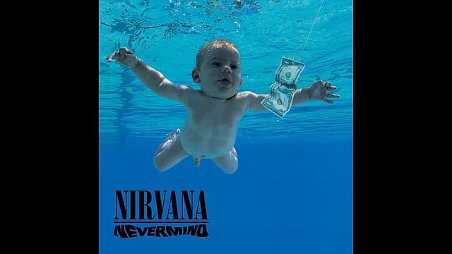 Das Albumcover des Albums Nevermind von Nirvana.