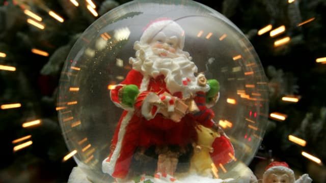 Der Weihnachtsmann wie er leibt und lebt.