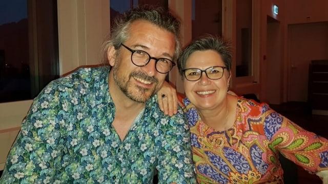 Redaktor Dani Häusler und Moderatorin Christine Gertschen.