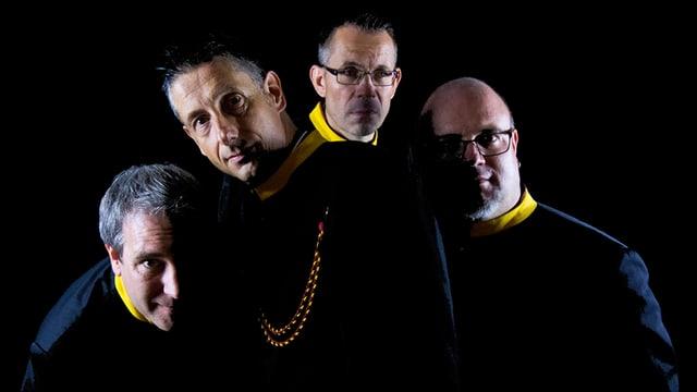 FassBrass (v.l.n.r.): Geri Amrein (Trompete/Flügelhorn), Benno Peter (Basstrompete), Norbert Kappeler (Tuba), Thomas Hauri (Posaune).