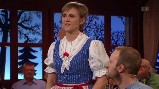 Karin Gwerder bei einem Auftritt in der Sendung «Potzmusig».