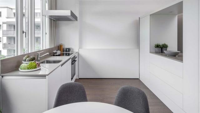 Das Micro Apartment bietet sämtliche Wohnfunktionen wie etwa eine Kochnische, eine Nasszelle und Schlafplätze auf kleinster Fläche.