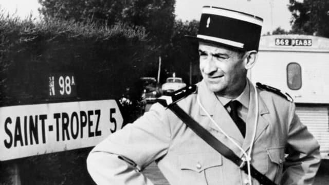 1964 in der Rolle des Ordnungshüters: De Funès spielt in «Le gendarme de Saint Tropez» einen pedantischen Polizisten.