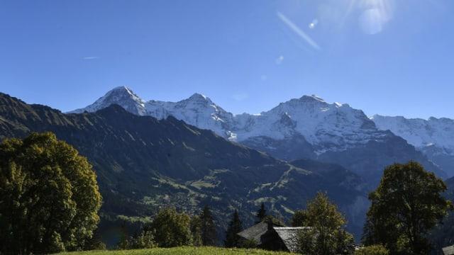 Das bekannte Dreigestirn Eiger, Mönch und Jungfrau.