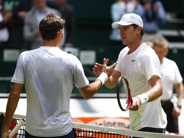 Mischa Zverev und Federer 2013.
