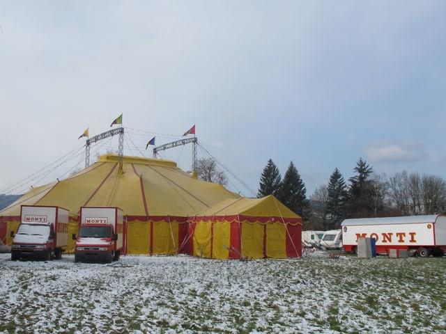 Das Zelt in Wohlen.