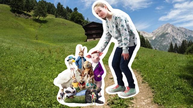 Collage mit Hasen